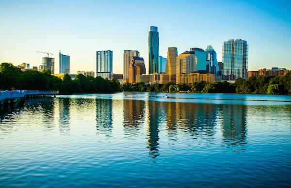 Austin Texas Summer 2015 Skyline Water Front Property