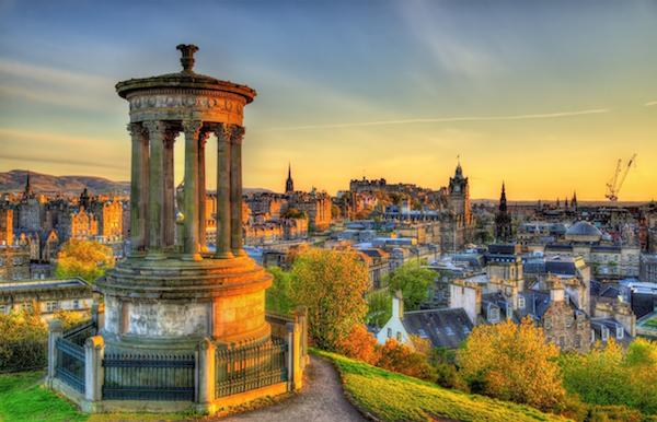 Dugald Stewart Monument on Calton Hill in Edinburgh - Scotland