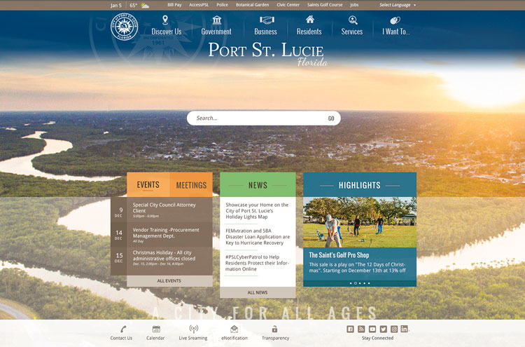 Port St. Lucie website