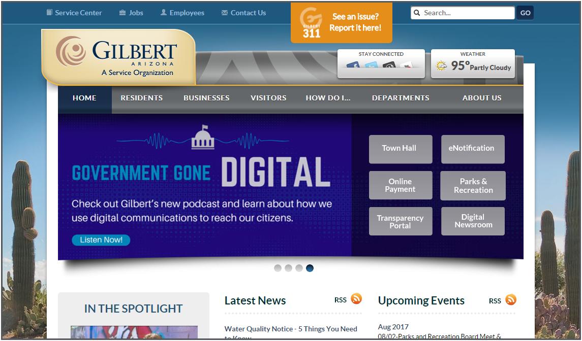 Gilbert, AZ homepage