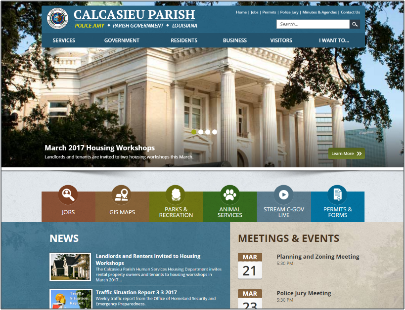 Calcasieu Parish homepage