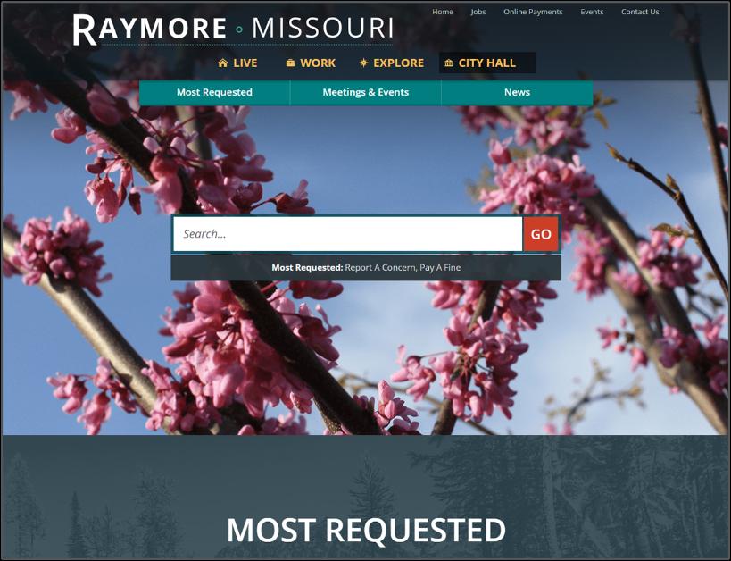 Raymore homepage