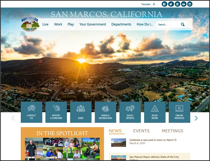 San Marcos homepage