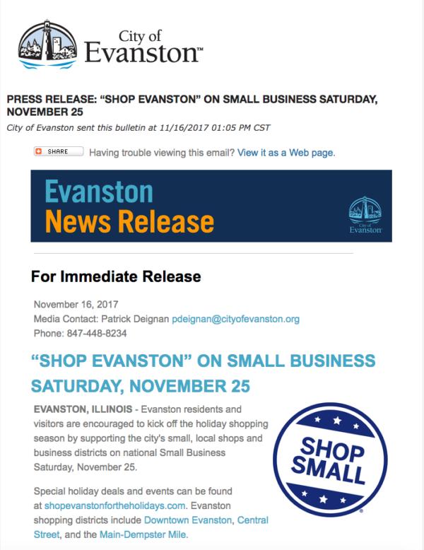 Shop Small Evanston