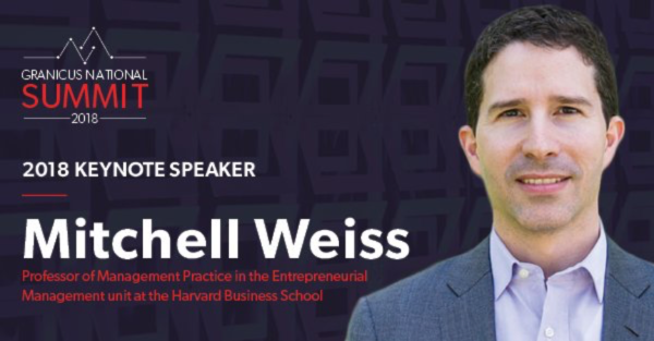 Federal govies can hear keynote speaker Mitchell B. Weiss at the 2018 Granicus National Summit