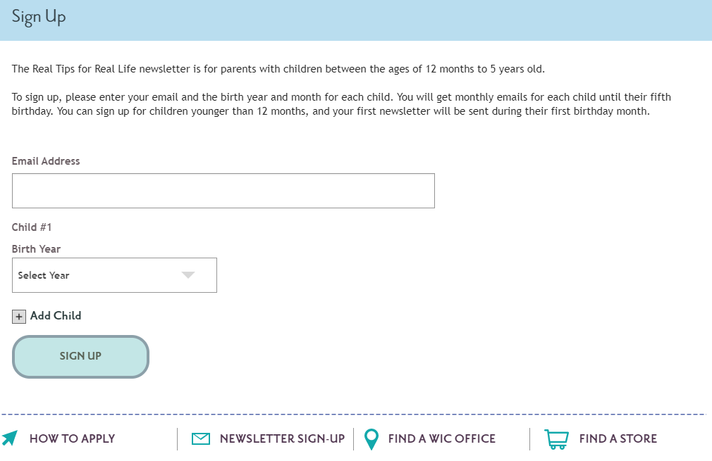 screenshot showing messaging on landing page for subscribers