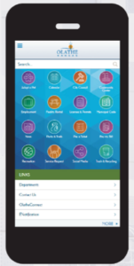 City website for mobile
