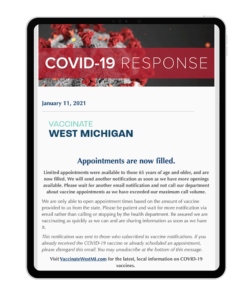 An example of COVID vaccine-related bulletin